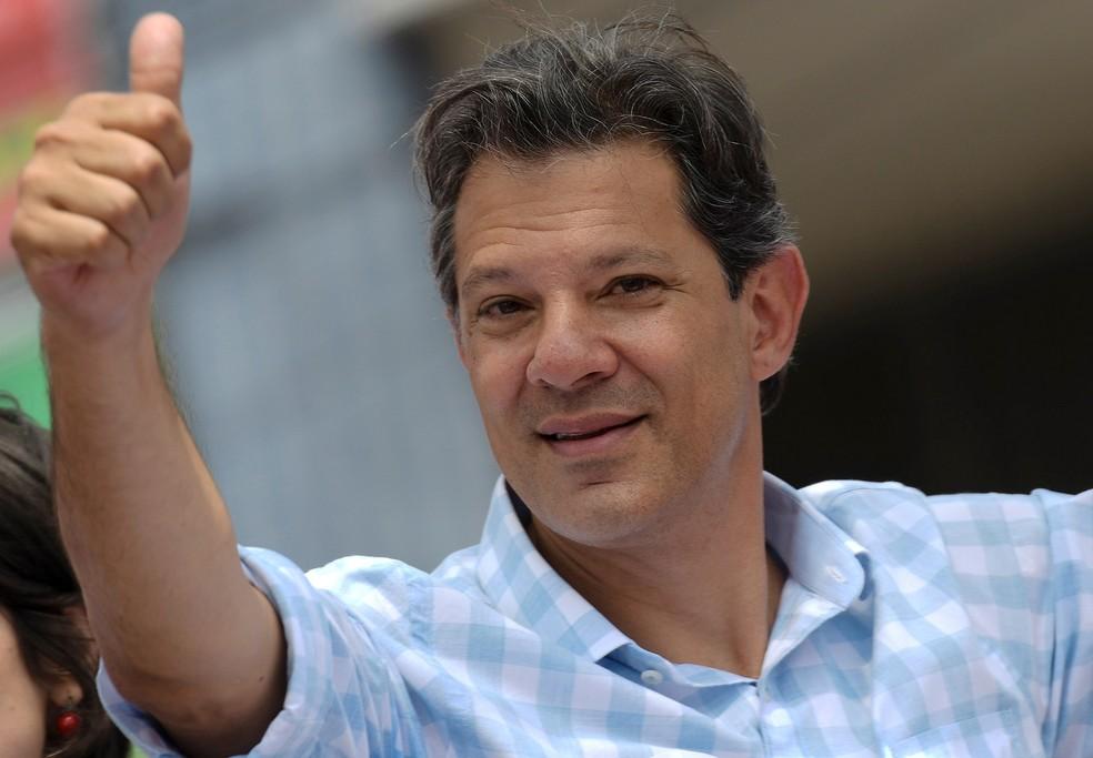 Candidato do PT à Presidência, Fernando Haddad, em 16/10 — Foto: Washington Alves/Reuters