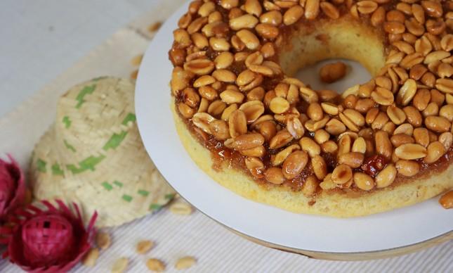 Diva Confeitaria: bolo de amendoim caramelizado