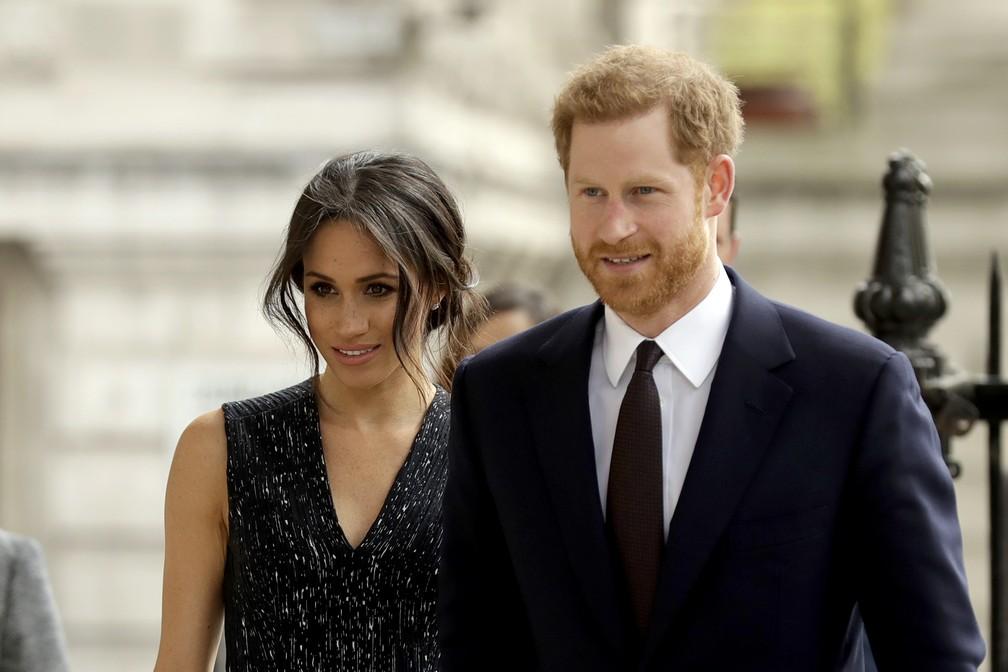 Meghan Markle e Príncipe Harry (Foto: Matt Dunham/AP)