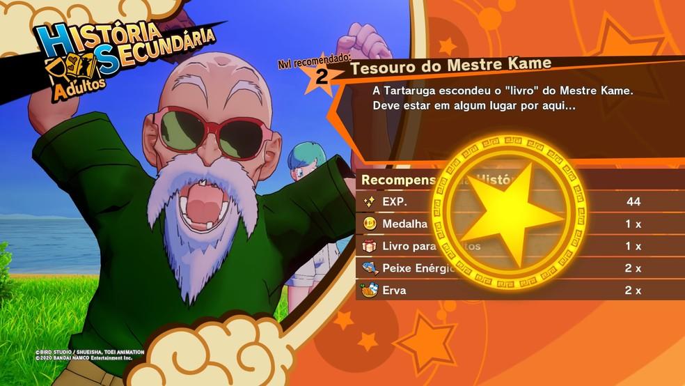 Sistema de relações de Dragon Ball Z: Kakarot funciona bem — Foto: Reprodução/Felipe Vinha
