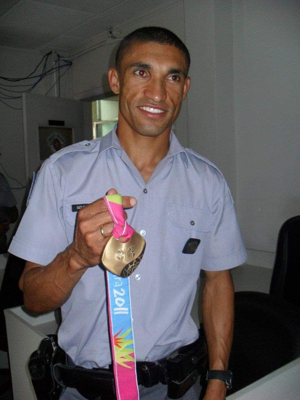 Medalha de ouro no atletismo no Pan de 2011, PM achado morto em rodovia é  velado e homenageado em SP; corpo será enterrado na BA | São Paulo | G1