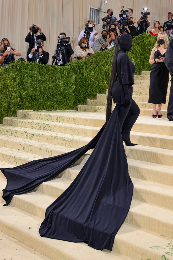 NEW YORK, NEW YORK - SEPTEMBER 13: Kim Kardashian attends The 2021 Met Gala Celebrating In America: A Lexicon Of Fashion at Metropolitan Museum of Art on September 13, 2021 in New York City. (Photo by Theo Wargo/Getty Images) (Foto: Getty Images)
