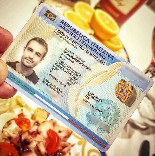 Max Fercondini: cidadania italiana (Foto: Reprodução Instagram)