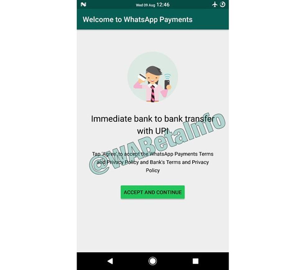 WhatsApp poderá ter sistema próprio de pagamentos (Foto: Reprodução/WABetaInfo)