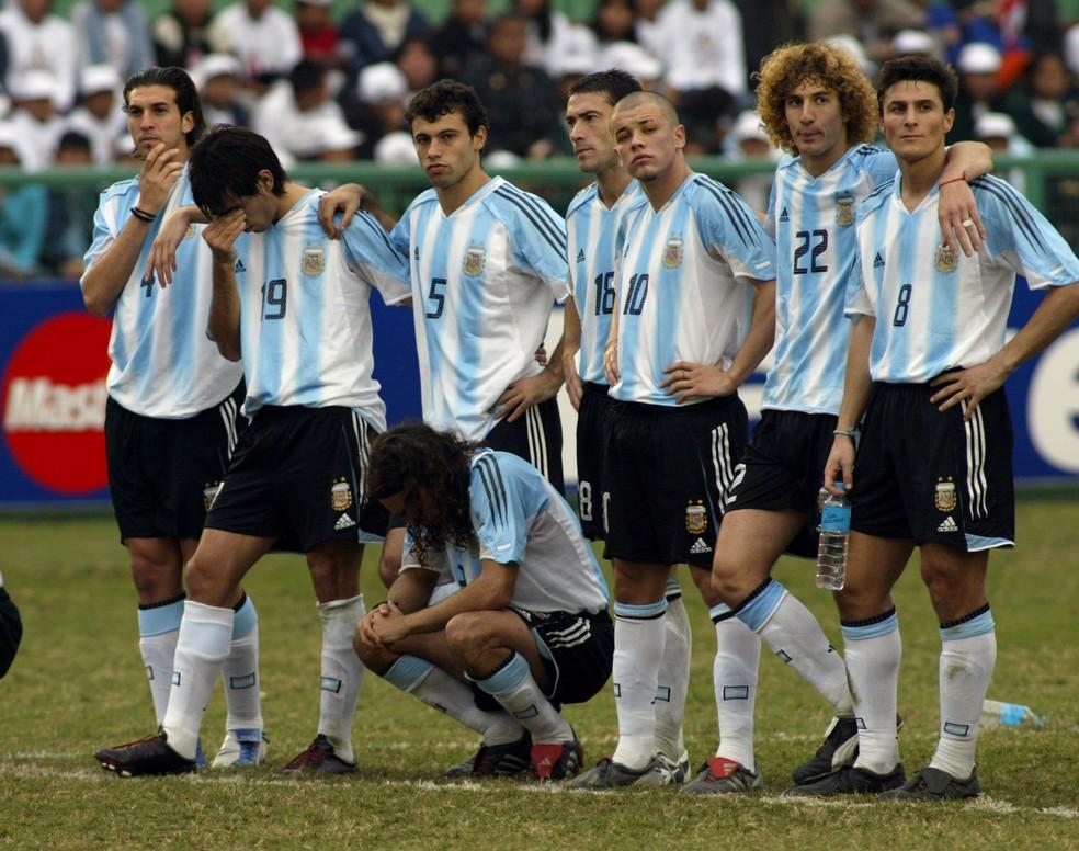 Argentina x Brasil Copa América 2004 — Foto: AP