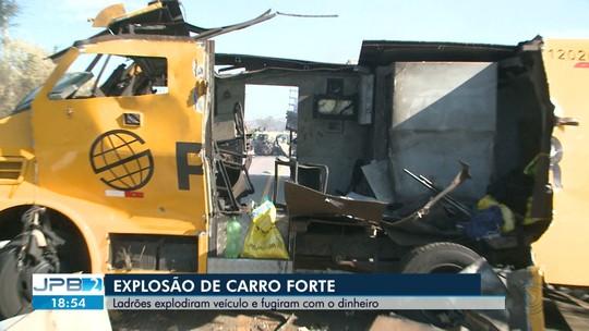 Grupo sequestra motorista de caminhão e explode carro-forte no Sertão da Paraíba