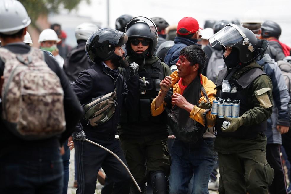 Protestos causam tensão na Bolívia — Foto: Carlos Garcia Rawlins/Reuters