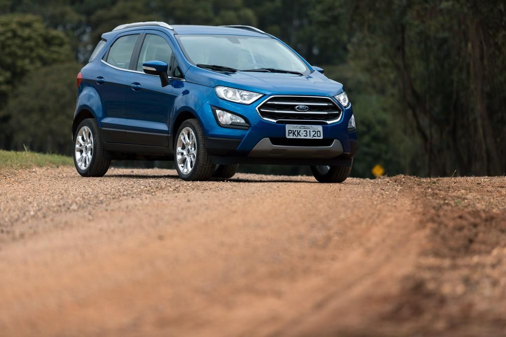 Ford EcoSport foi o único dos SUVs mais vendidos no ano a ter alta nos emplacamentos em setembro (Foto: Marcelo Brandt/G1)