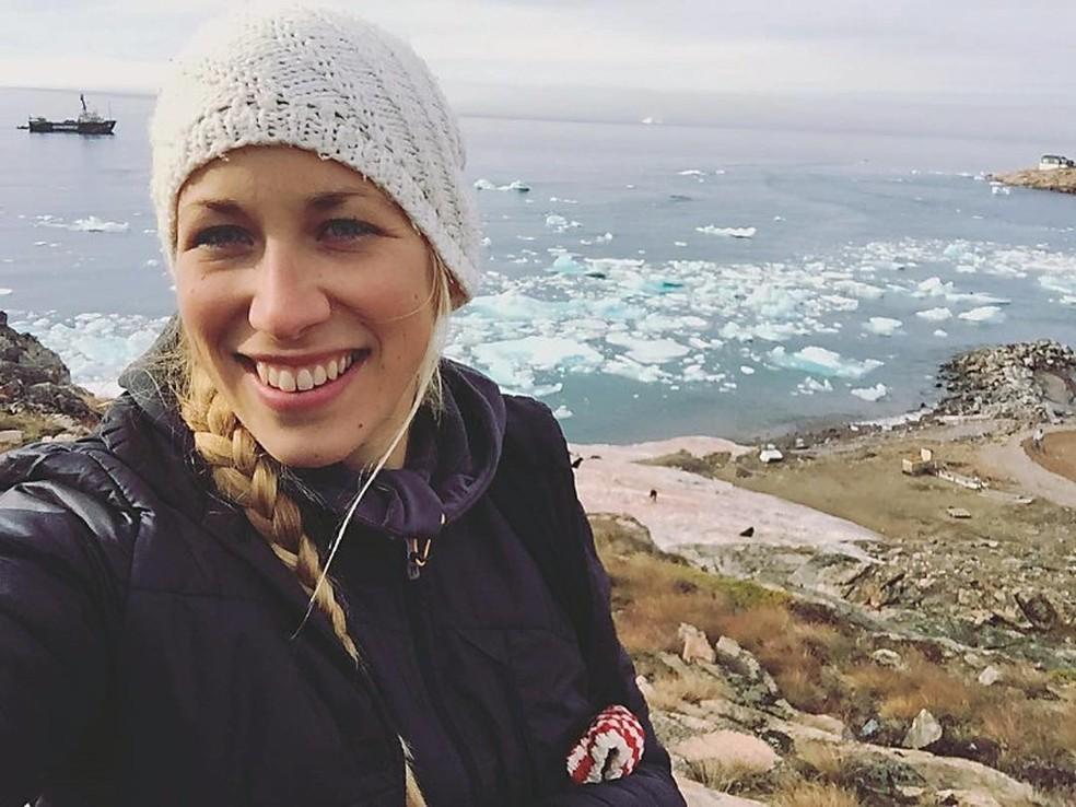 A sueca Carolina Nyberg Steiser, de 29 anos, morta no acidente aéreo com uma aeronave do Greenpeace (Foto: Greenpeace/Divulgação)