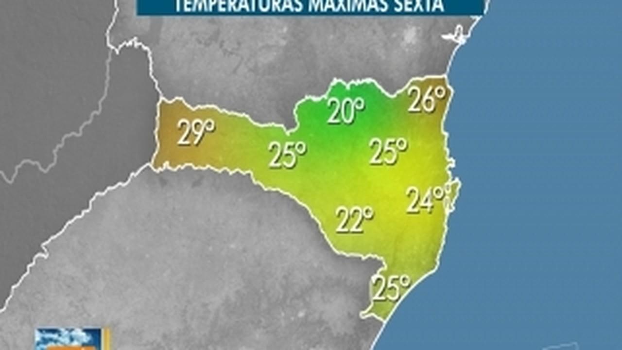 Confira a previsão do tempo para SC nesta sexta-feira