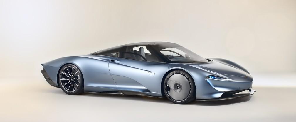 """McLaren Speedtail tem visual aerodinâmico em formato de """"gota"""" — Foto: McLaren/Divulgação"""