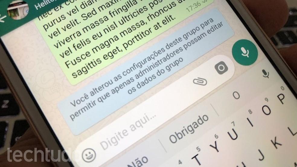 Administradores e membros de grupo do WhatsApp  podem ser responsabilizados por mensagens criminosas mesmo sem ser manifestar sobre elas — Foto: Helito Bijora/TechTudo