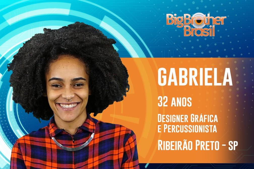Gabriela, participante do 'BBB19' — Foto: Divulgação