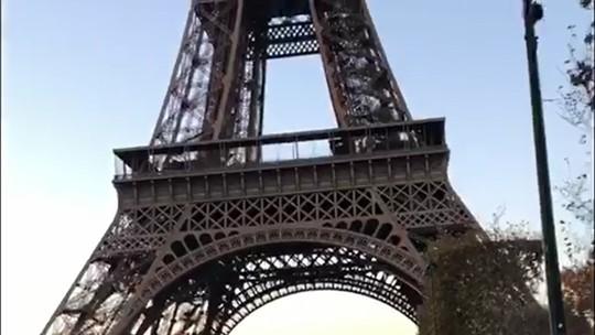 Fátima Bernardes e o namorado Túlio Gadêlha mostram sintonia em viagem a Paris