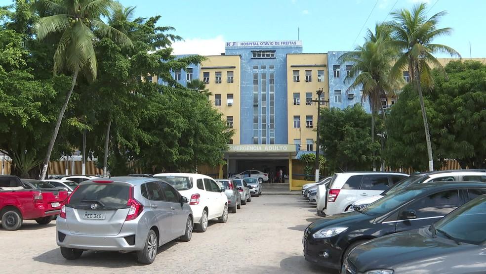 Hospital Otávio de Freitas fica localizado no bairro de Tejipio, no Recife — Foto: Reprodução/TV Globo