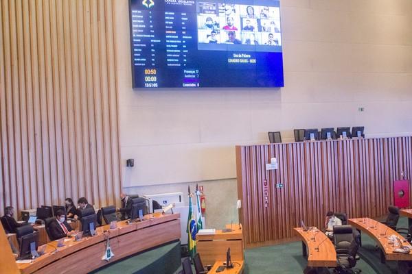 Distrital Rafael Prudente (MDB) preside sessão remota na Câmara Legislativa do Distrito Federal — Foto: CLDF/Divulgação
