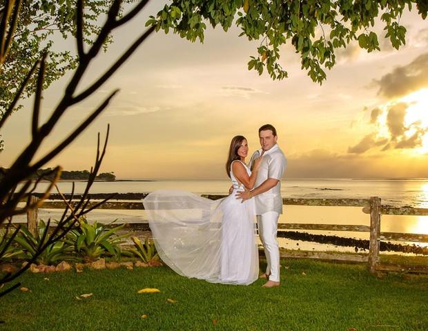 Gretchen e do noivo Esdras (Foto: Carol Marques/Divulgação)