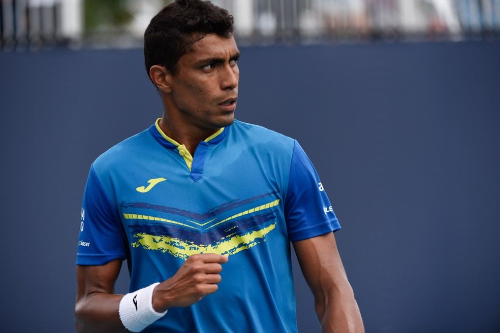 Thiago Monteiro no Masters 1000 de Miami 2019 — Foto: Icon Sportswire / Getty Images