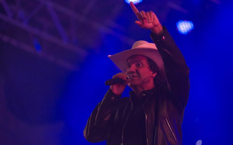 Juliano Cezar cantou no Ribeirão Rodeo Music 2018 — Foto: Érico Andrade/G1