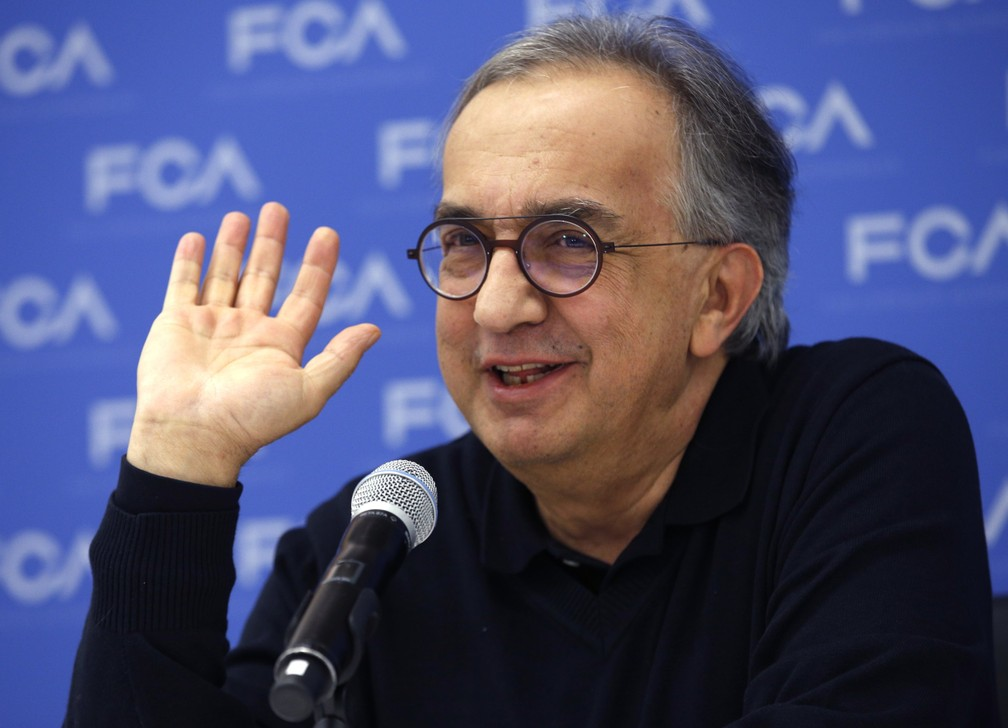 Sergio Marchionne, CEO da Fiat Chrysler, no Salão de Detroit 2018 (Foto: Rebecca Cook/Reuters)