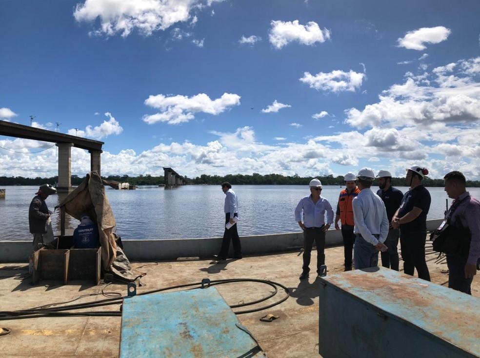 Começam trabalhos de remoção de escombros da Alça Viária — Foto: Agência Pará