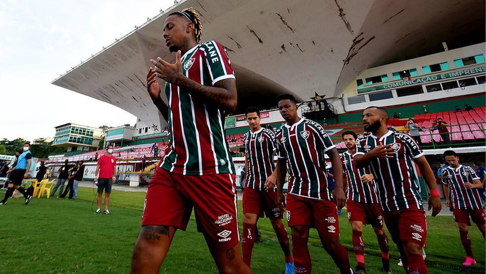 Time alternativo tricolor ganha corpo e pode ser mais usado em 2021 — Foto: Mailson Santana / Fluminense FC