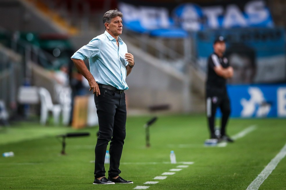 Renato Portaluppi em Grêmio x São Paulo, na Arena — Foto: Lucas Uebel/Grêmio FBPA