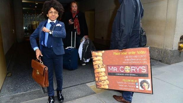 Cory Nieves abriu sua empresa de cookies quando tinha 6 anos (Foto: Getty Images via BBC)
