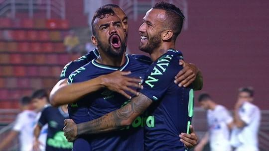 Veja o gol da vitória da Chapecoense sobre o Santos no Pacaembu