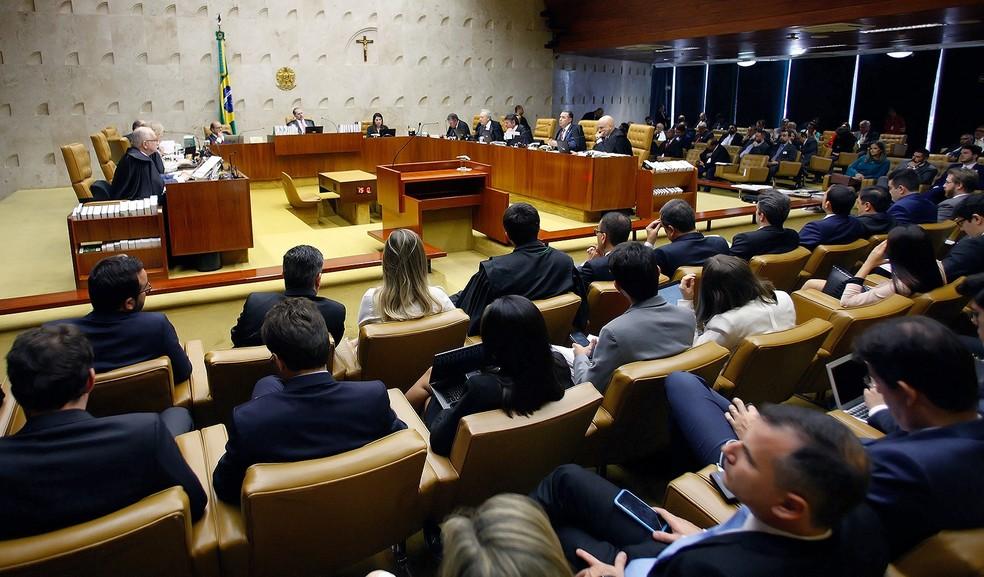 Plenário do STF durante julgamento, em dezembro de 2019 — Foto: Fellipe Sampaio/SCO/STF