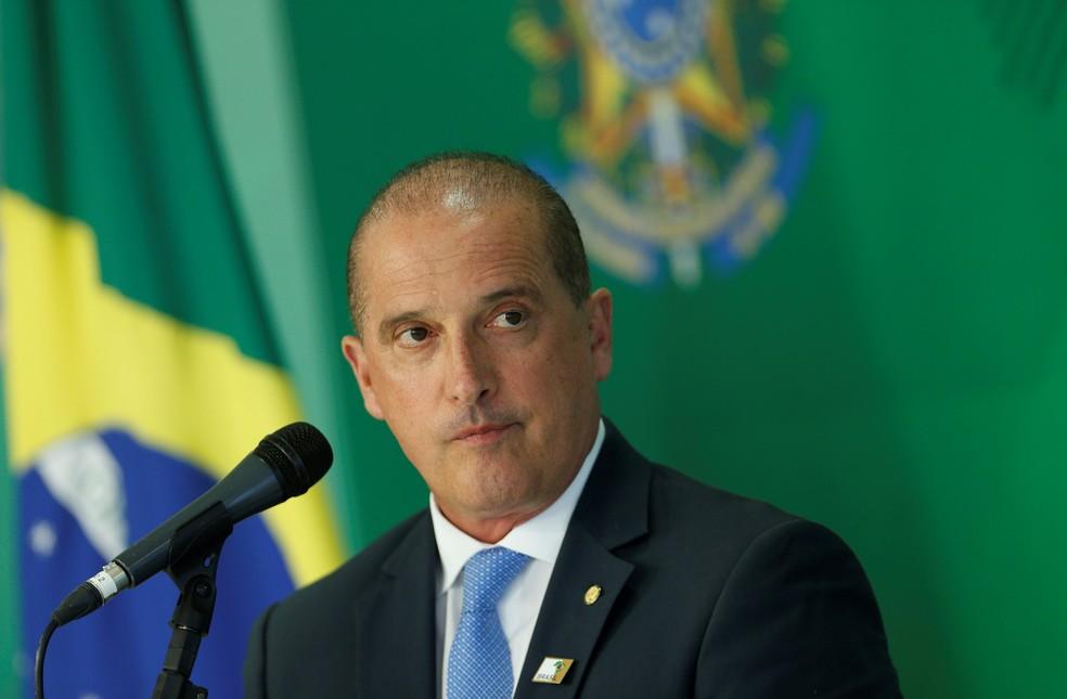 O ministro da Casa Civil, Onyx Lorenzoni — Foto: Adriano Machado/Reuters