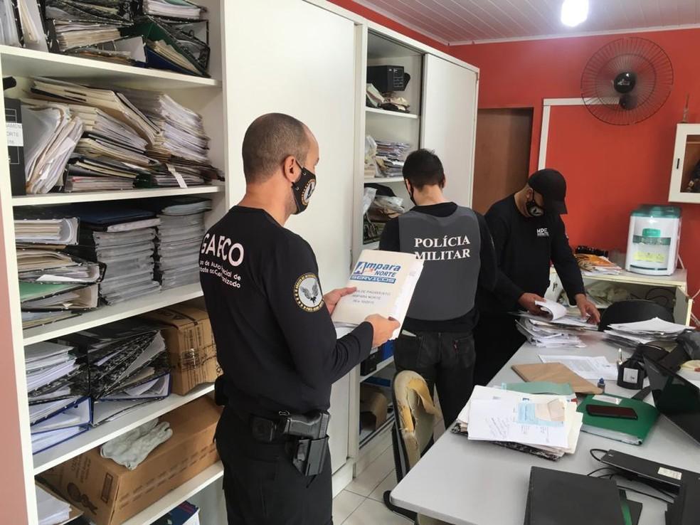 Ministério Público do Espírito Santo (MPES) deflagrou nesta terça-feira (24) a sexta fase da Operação Varredura — Foto: Divulgação/MPES
