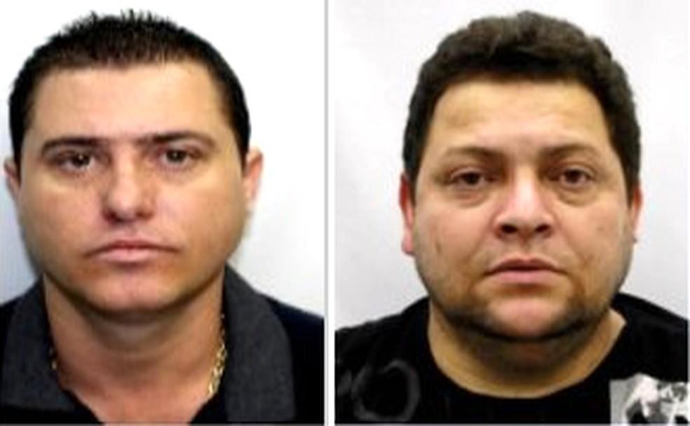 Luís Antônio da Silva Braga, o Zinho, irmão de Ecko; e o PM reformado Clayton da Silva Novaes — Foto: Reprodução/PCERJ