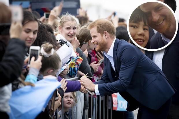 Otia Nante e príncipe Harry em Auckland (Foto: Getty Images/Reprodução/Instagram)