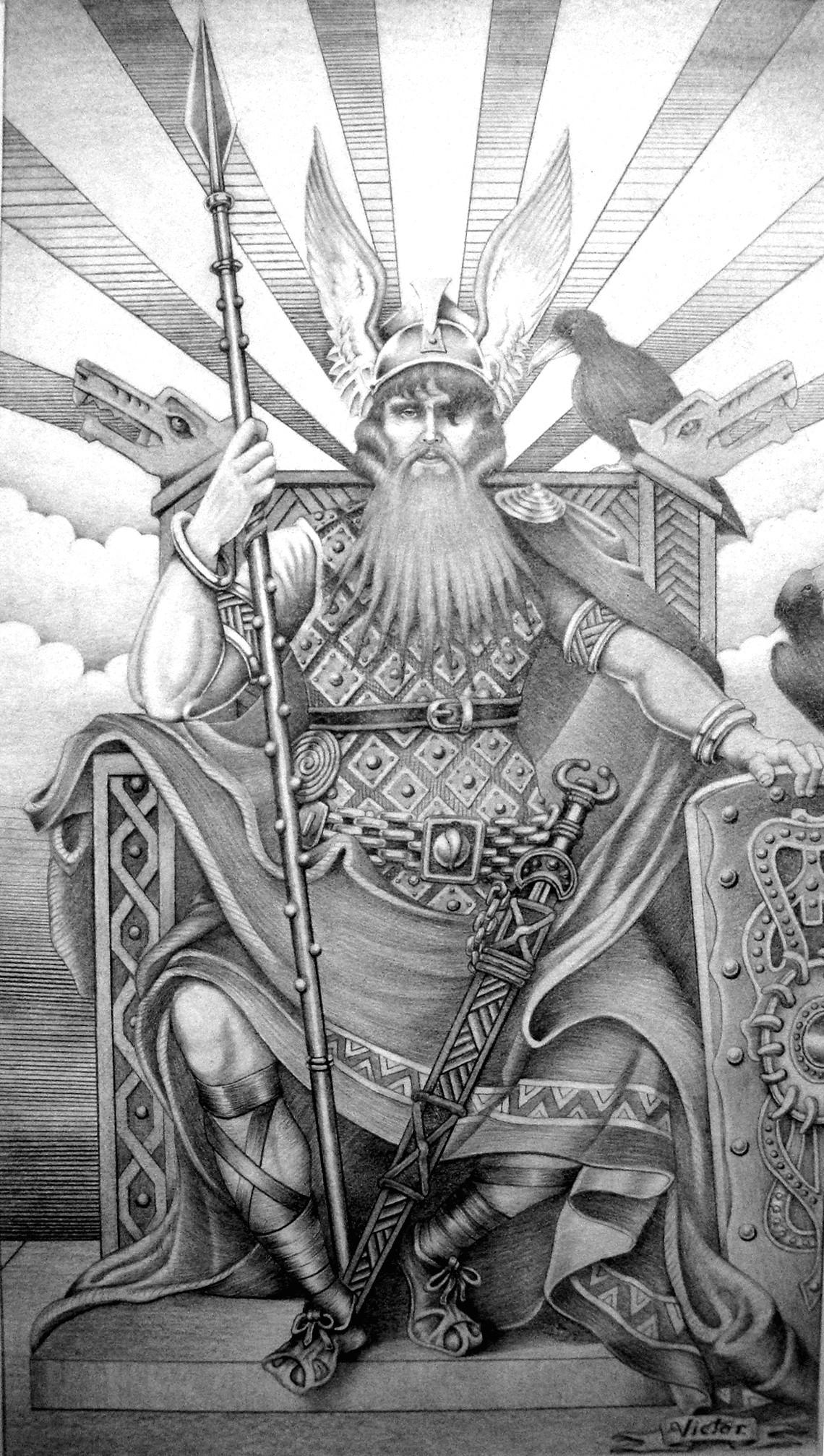 Representação do deus Odin (Foto: Reprodução/Wikimedia Commons)