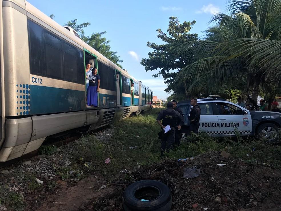 Acidente aconteceu na manhã desta segunda-feira (25) na Zona Norte de Natal (Foto: Kleber Teixeira/Inter TV Cabugi)