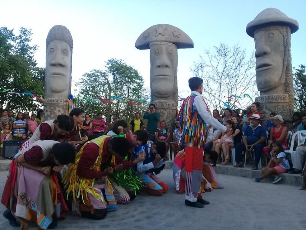 Parque dos Mamulengos Gigantes em Surubim — Foto: Divulgação