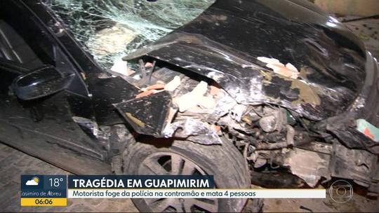 Motorista que atropelou e matou 4 pessoas em Guapimirim, RJ, disse à polícia que estava 'doidão'