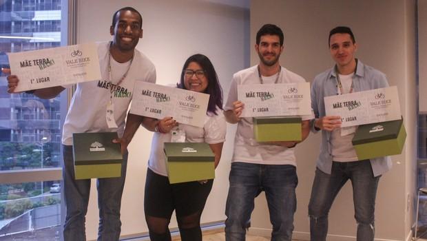 """Grupo """"Sementes da Mãe Terra"""", vencedor do hackaton promovido pela Unilever (Foto: Divulgação)"""