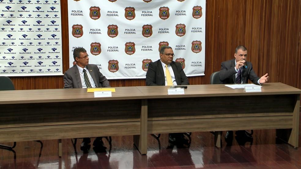 PF investiga fraude na Receita Federal, no ES  — Foto: Wagner Martins/ TV Gazeta