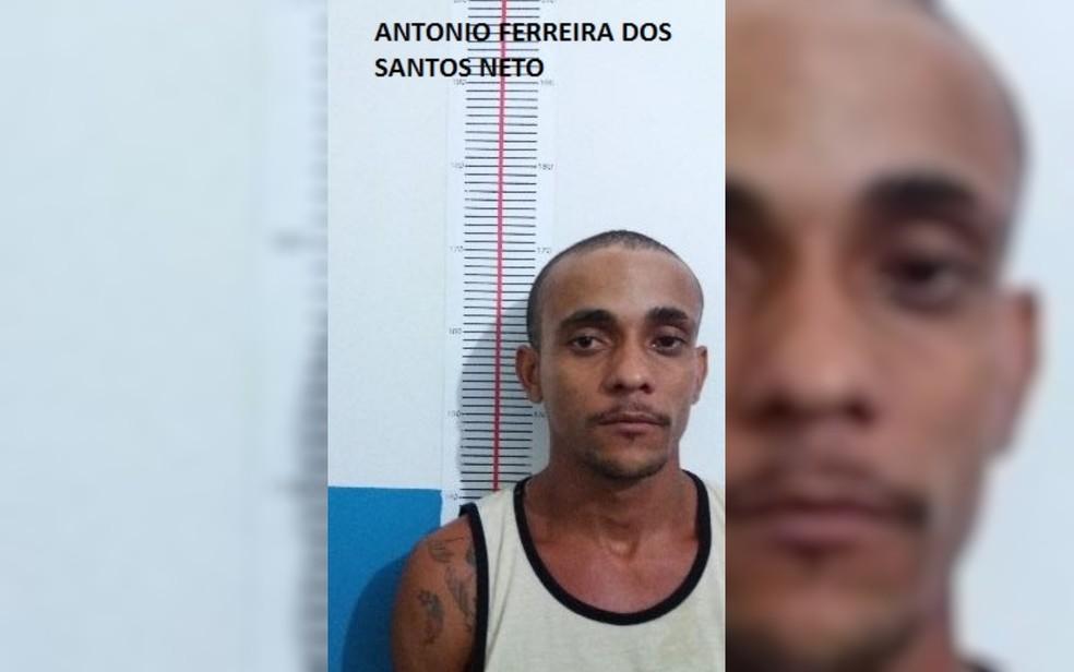Antônio Ferreira dos Santos, que fugiu da cadeia de Uruaçu, em Goiás — Foto: DGAP/Divulgação