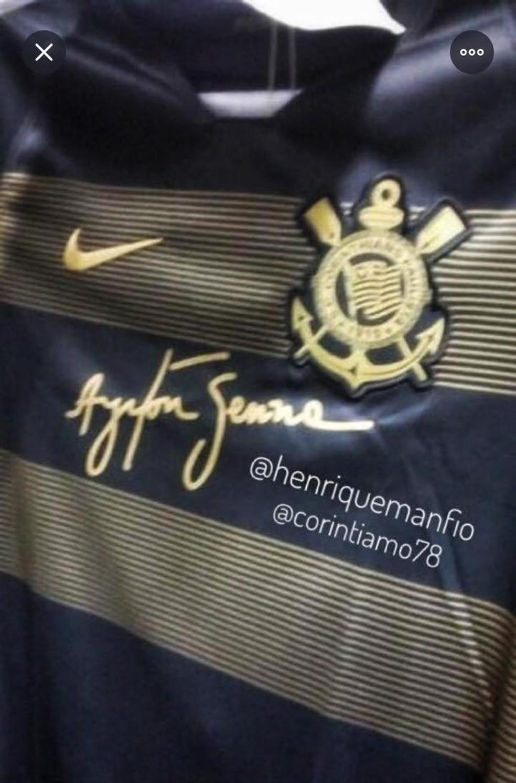 556127920 ... Imagem da suposta nova terceira camisa do Corinthians — Foto   Reprodução da internet