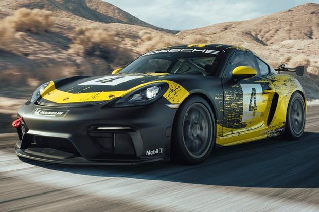 Porsche 718 GT4 adotou peças feitas de fibras naturais (Foto: Divulgação)