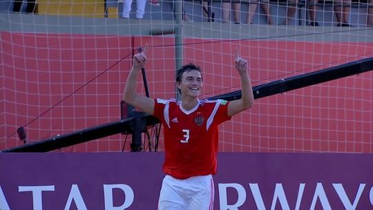 Brasil abre 3 a 1, mas leva virada da Rússia e é eliminado do Mundial de Futebol de Areia