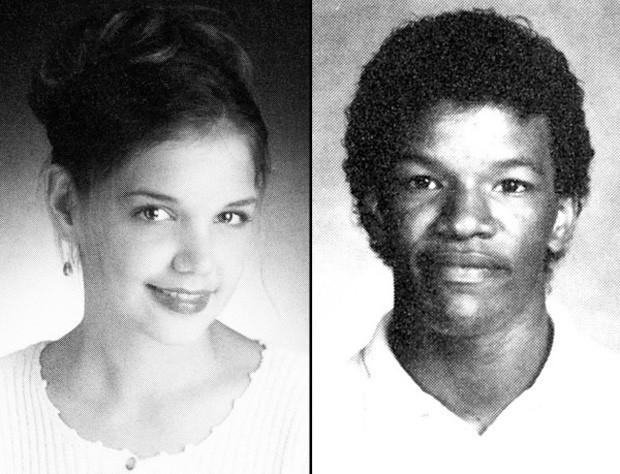 Katie Holmes e Jamie Foxx na adolescência (Foto: Reprodução)
