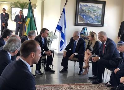 politica-bolsonaro-netanyahu-encontro (Foto: Twitter/Jair Bolsonaro)