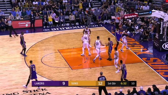 Lakers nocauteiam Suns no fim, se reabilitam e abrem distância na ponta da Conferência Oeste