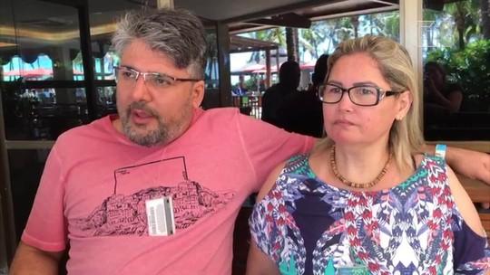 'Eles não estavam preparados pra esse tipo de acontecimento', diz turista acidentado no Beach Park