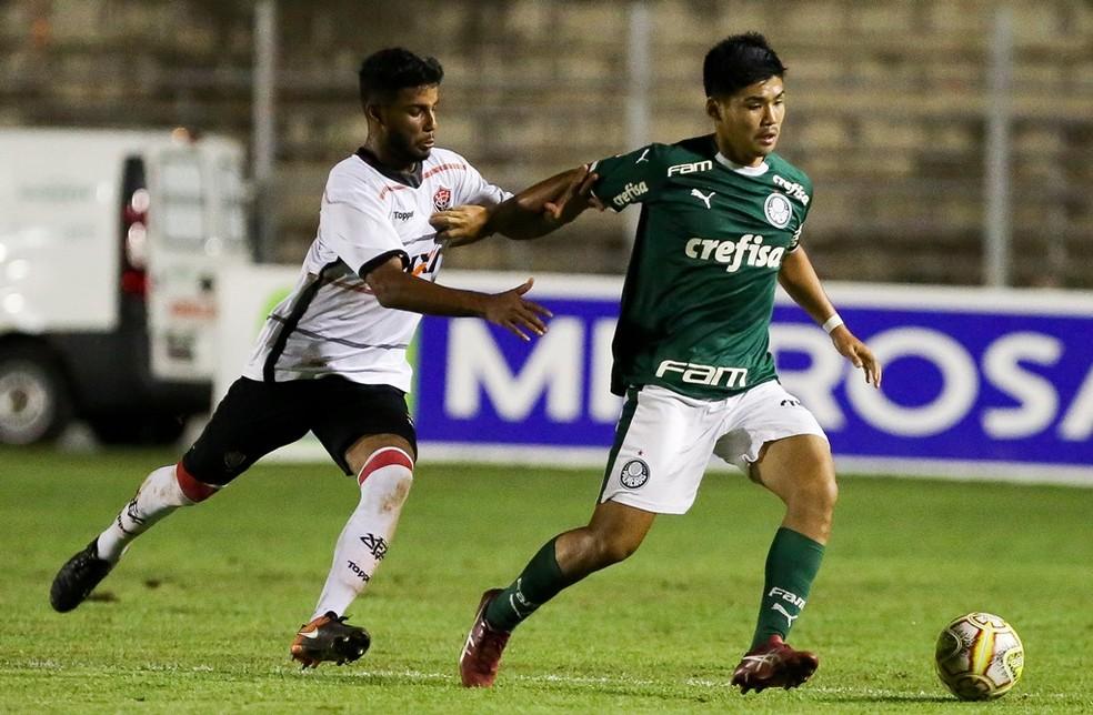 Sasaki participou da Copinha, quando os destaques não foram inscritos — Foto: Fabio Menotti/Ag. Palmeiras