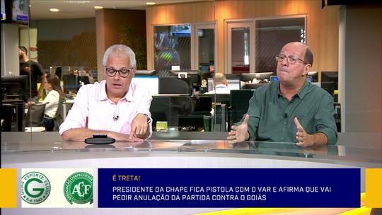 Comentaristas reprovam ideia da Chapecoense de tentar anular o jogo contra o Goiás